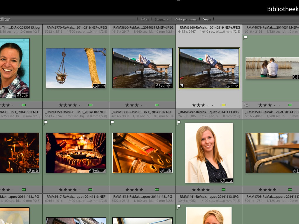 Lightroom, rasterweergave, grid, Adobe Lightroom, Adobe
