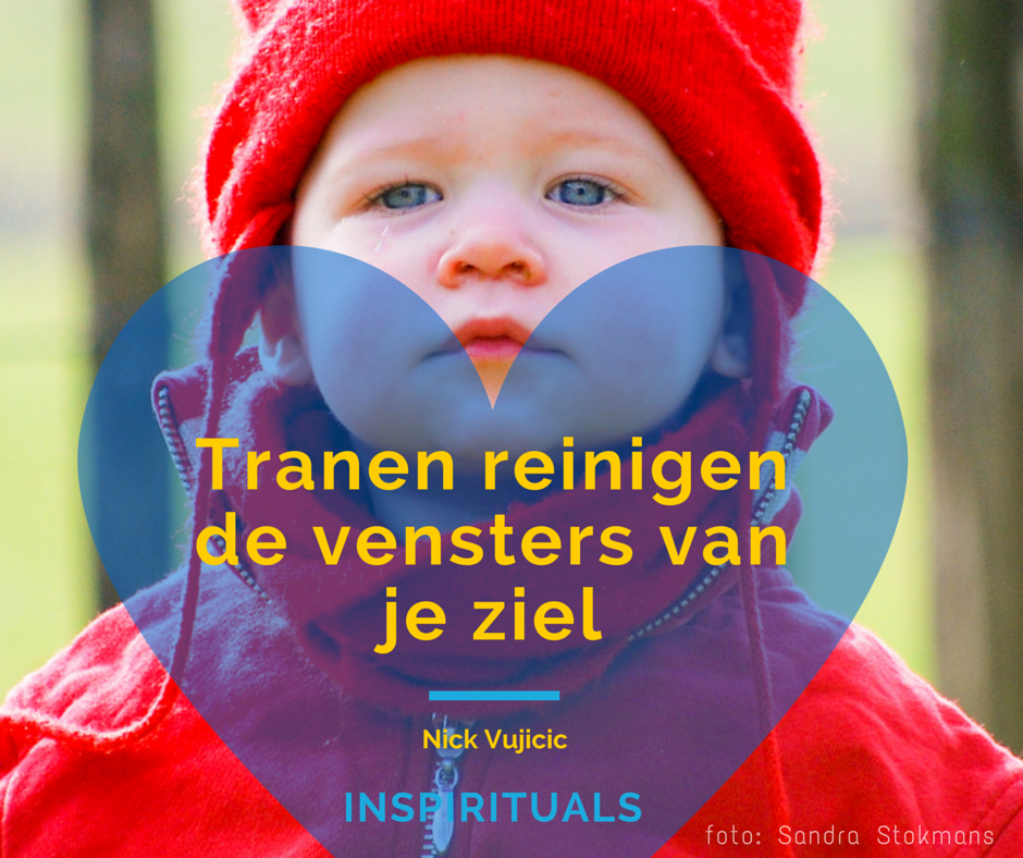Quote door Nick Vujicic, Canva opmaak en foto door Sandra Stokmans