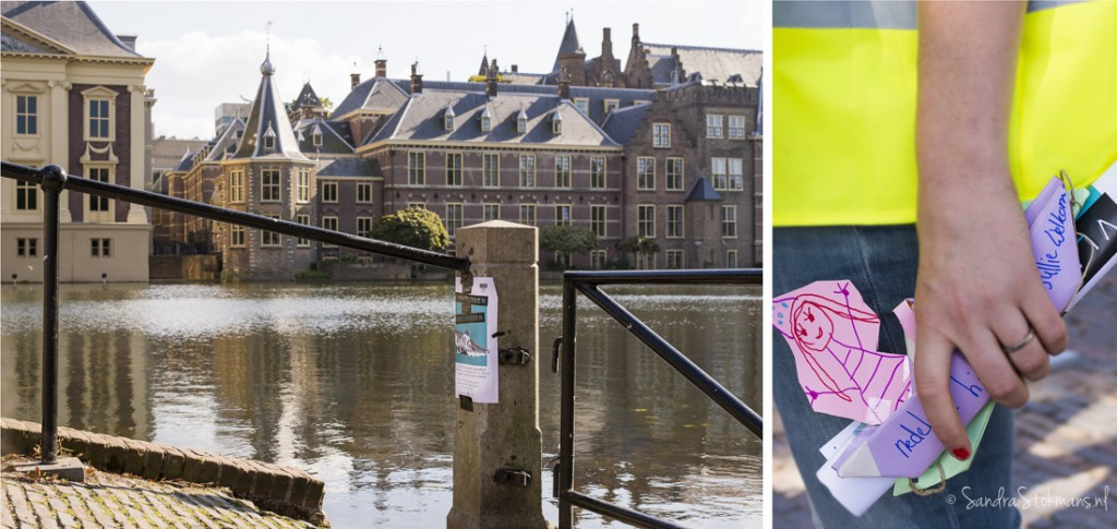 Het Torentje aan de Hofvijver tijdens het initiatief van Liesje Doet voor de vluchtelingenproblematiek, evenement fotografie Sandra Stokmans