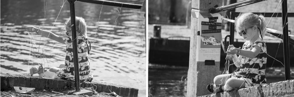 Meisje bij Hofvijver Den Haag na afloop van het initiatief van Liesje Doet, straatfotografie Sandra Stokmans