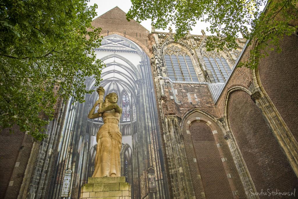 Detail Domkerk aan Domplein in Utrecht gefotografeerd tijdens FotoJam 2015, by Sandra Stokmans