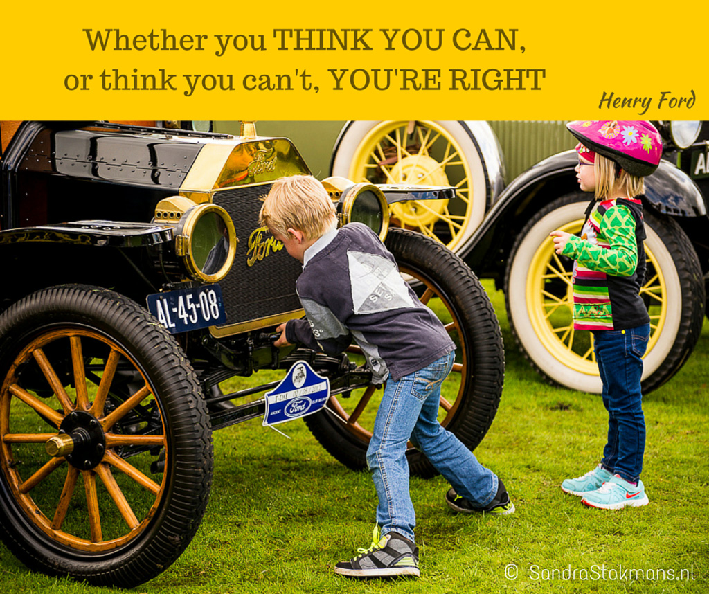 Sandra Stokmans Fotografie, Foto quote, Canva, Whether you THINK YOU CAN, Henry Ford