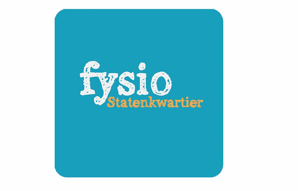Logo Fysio Statenkwartier en oude website homepage