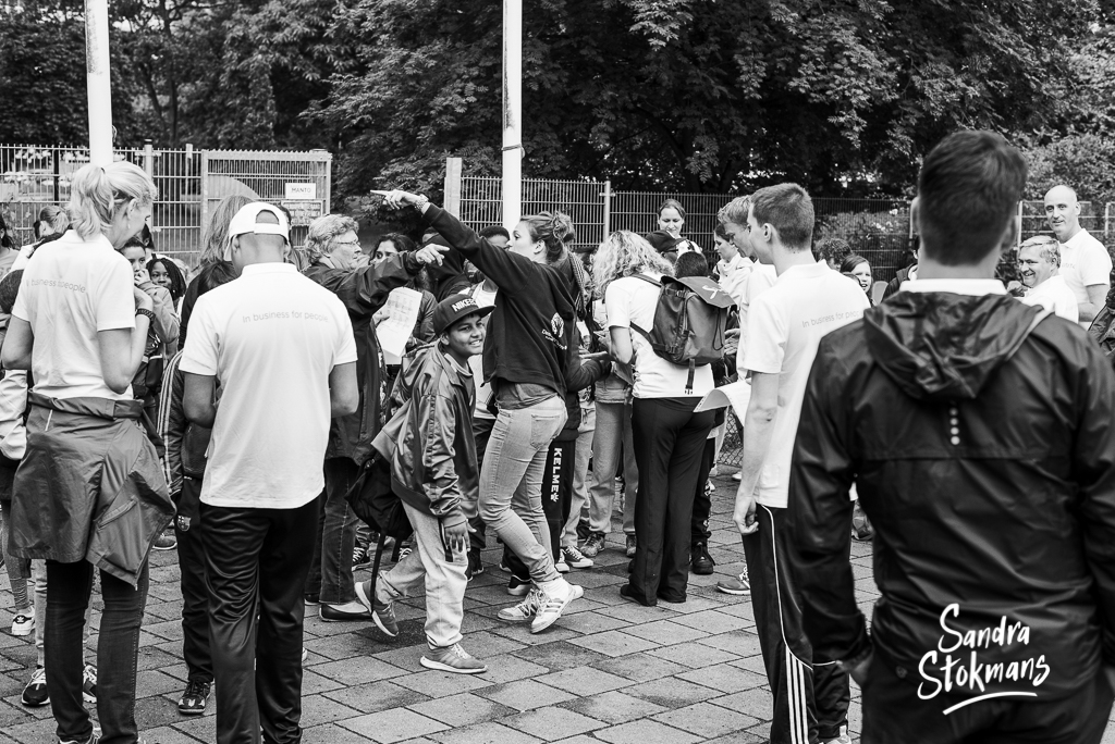 Foto reportage van Unit4 Cares Kids Sports Day in Rotterdam, foto door Sandra Stokmans Fotografie