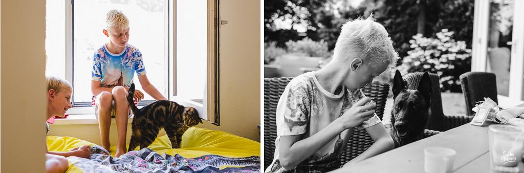 Day in the Life momenten met huisdieren, documentaire familie fotografie, image by Sandra Stokmans Fotografie