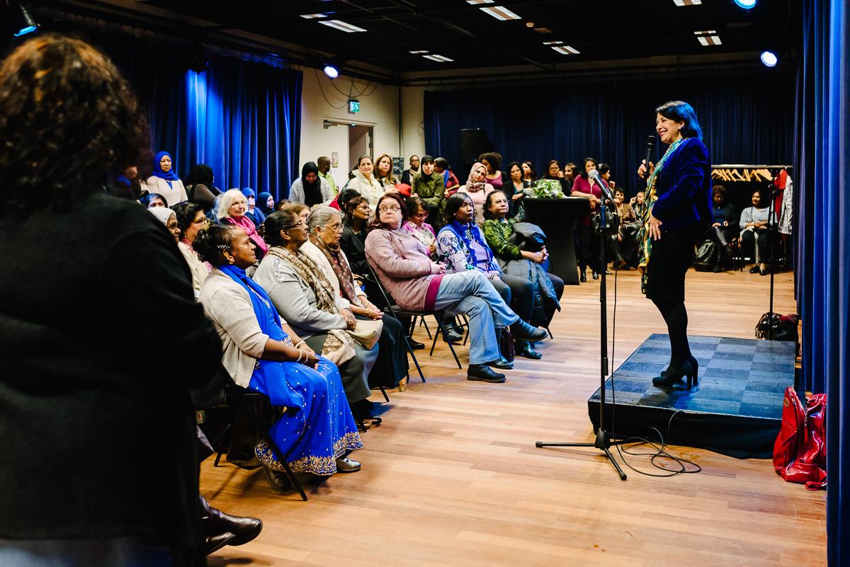 Evenement fotografie in het Vaillant Theater in den Haag, Power Vrouwen 2017, foto door Sandra Stokmans Fotografie