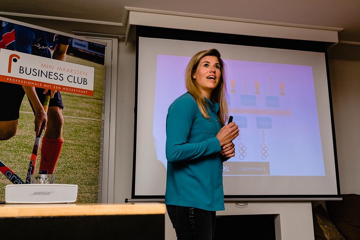 Evenement fotografie voor MHV Business Club, Kim Lammers op bezoek, door Sandra Stokmans Fotografie