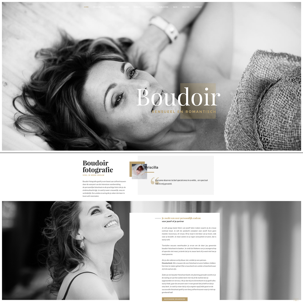 Website maken in Wordpress door Sandra Stokmans Fotografie