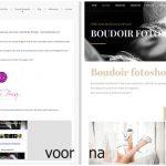 Website maken in Wordpress door Sandra Stokmans Fotografie, voor en na plaatjes