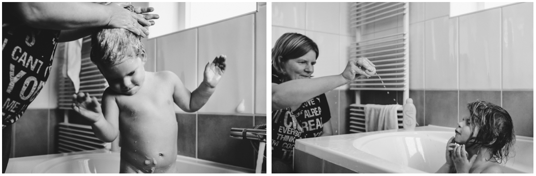 documentaire familie fotografie, Day in the Life, avondritueel in bad, image by Sandra Stokmans Fotografie