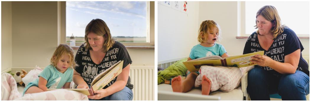documentaire familie fotografie, Day in the Life, avondritueel voorlezen, image by Sandra Stokmans Fotografie