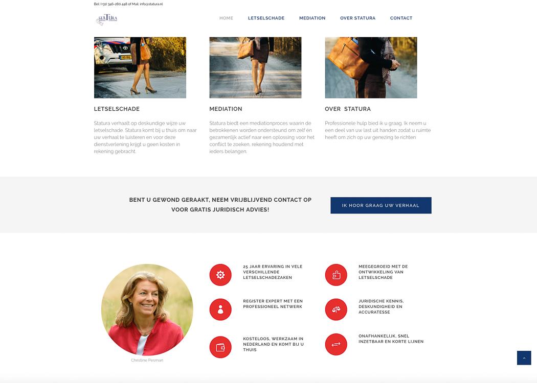 Nieuwe website Statura, Fotos voor je website, website fotografie, website bouwen door Sandra S