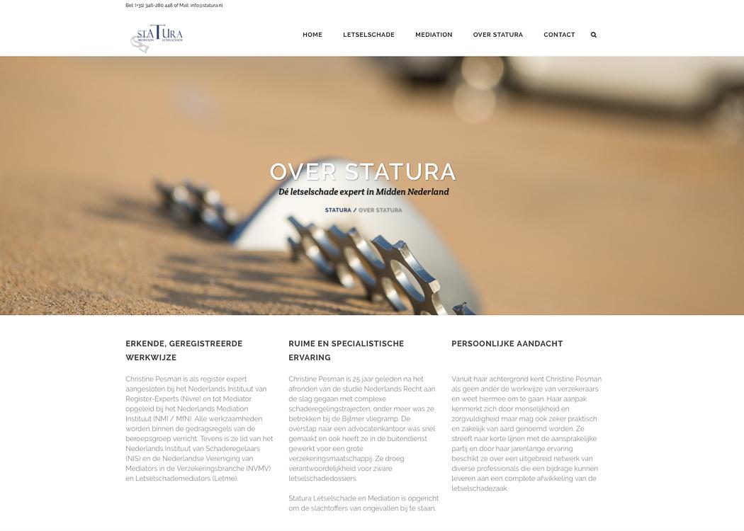 Nieuwe website Statura, Fotos voor je website, website fotografie, website bouwen door Sandra Stokmans Fotografie