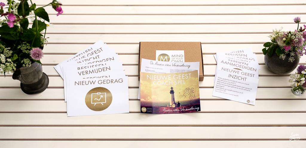Productfoto hele set kaartspel de Assen van Verandering, foto door Sandra Stokmans Fotografie