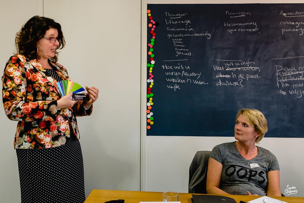 Foto's maken van een bijeenkomst, trainer in beeld, door Sandra Stokmans Fotografie