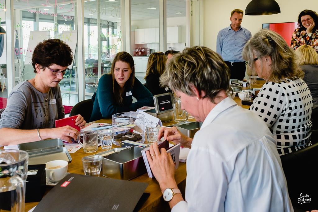 Foto's maken van een training van SIR Communicatiemanagement in Het Nieuwe Kantoor in Utrecht door Sandra Stokmans Fotografie