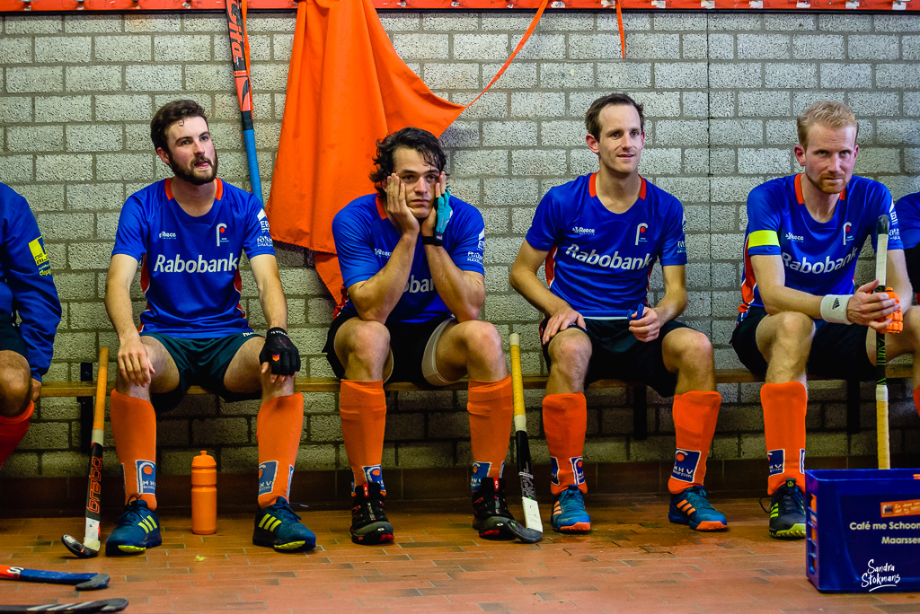 MHV Maarssen, in de pauze hockey wedstrijd, reportage Heren 1 door Sandra Stokmans Fotografie