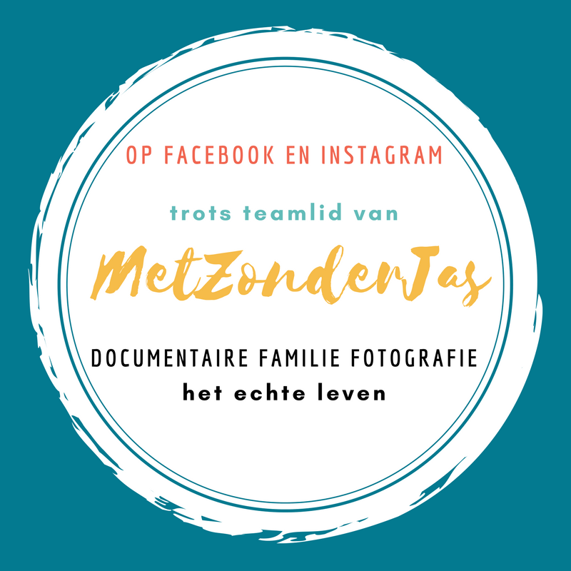 Documentaire Familie Fotografie, MetZonderJas Badge Trots teamlid MZJ