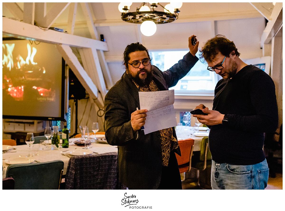 Fotoreportage maken, muzieklijst maken tijdens kick-off HEI Challenge, foto door Sandra Stokmans Fotografie