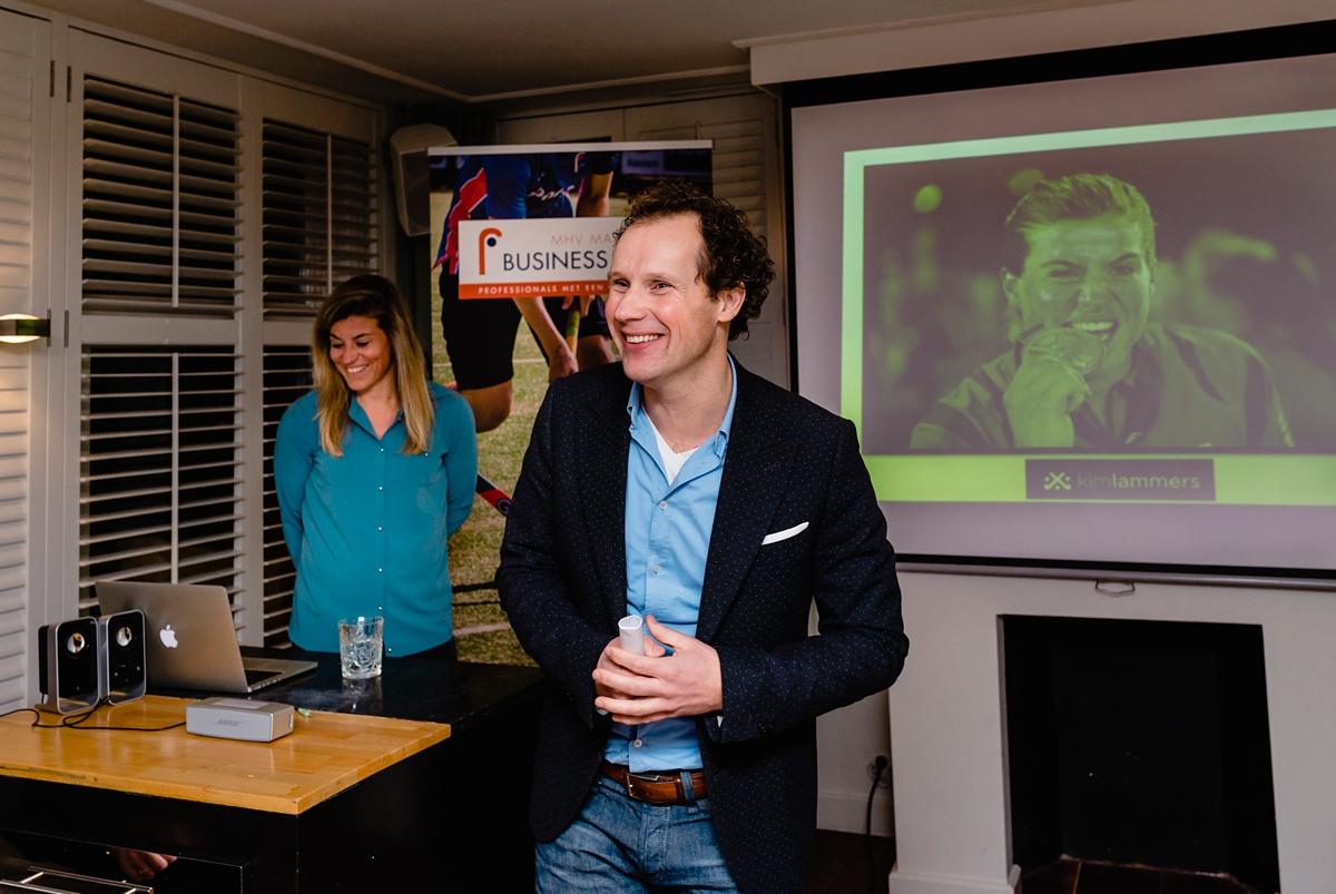 Evenement fotografie voor MHV Business Club, Kim Lammers gastspreker, door Sandra Stokmans Fotografie