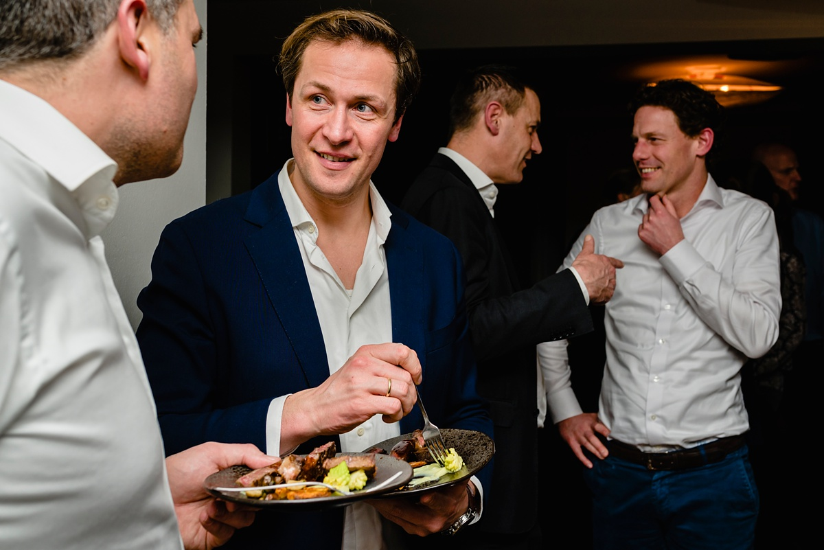 Evenement fotografie voor MHV Business Club, Walking diner Restaurant Slangevegt, foto door Sandra Stokmans Fotografie