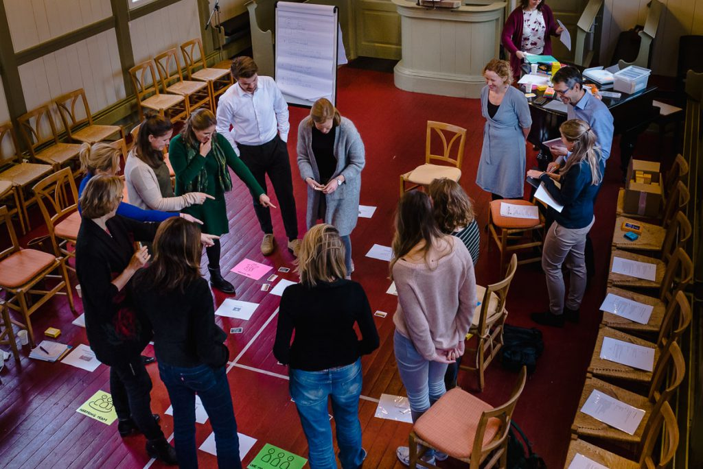 Training fotograferen, groep aan het werk, foto van de groepstraining voor op hun website, Sandra Stokmans Fotografie