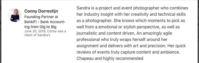 Aanbeveling voor documentair evenement fotograaf Sandra Stokmans