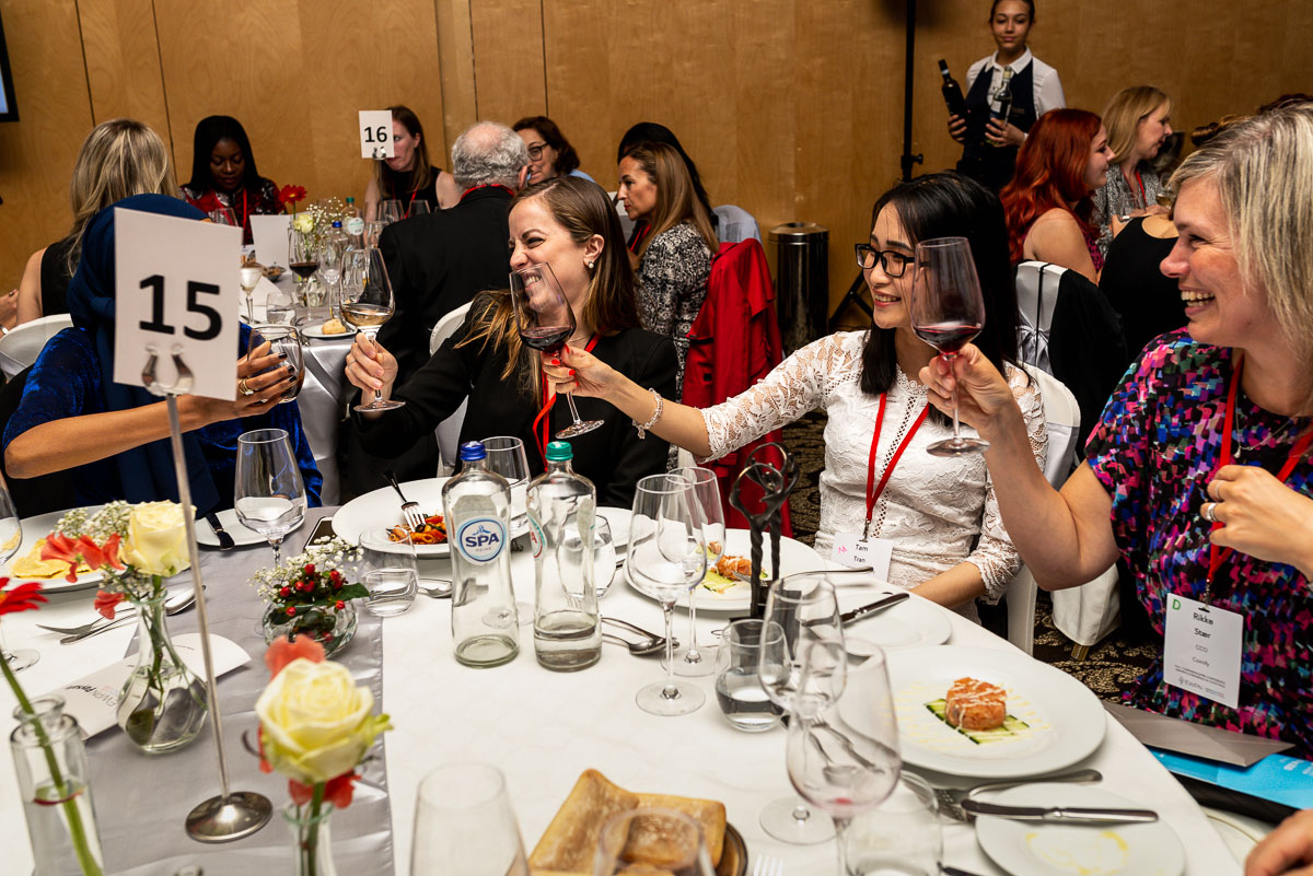 EWPN awards and diner in Hilton in Amsterdam, with event photographer Sandra Stokmans