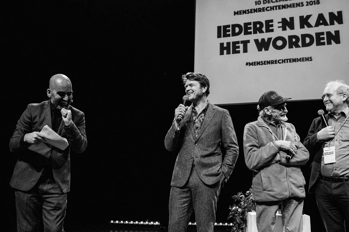 De genomineerden van het MensenrechtenMens 2018 zijnBeau van Erven Dorens, Edo Paardekooper Overmanen de Nederlandse Straatdokters, met evenement fotograaf Sandra Stokmans