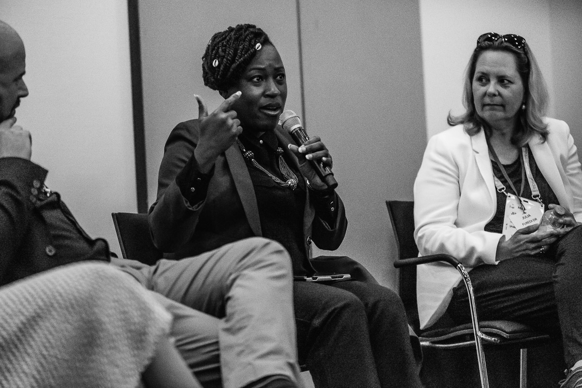 Serious debate during the EWPN Conference at the RAI, with event photographer Sandra Stokmans