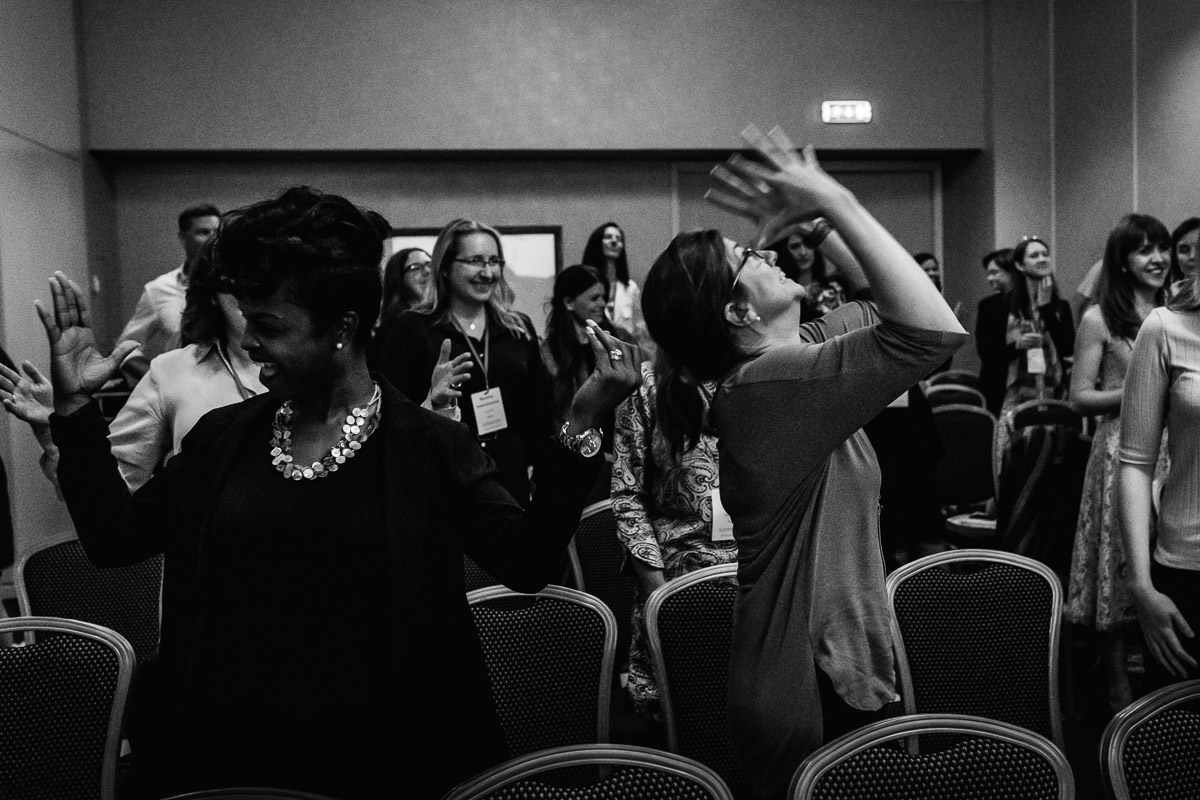 One of the pre-conference workshops at the Hilton in Amsterdam with event photographer Sandra Stokmans Fotografie