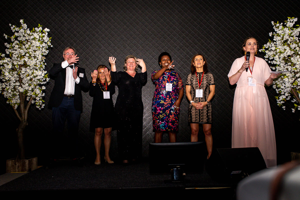 Portrait of the EWPN organization during the Award Dinner at the Hilton in Amsterdam, with event photographer Sandra Stokmans