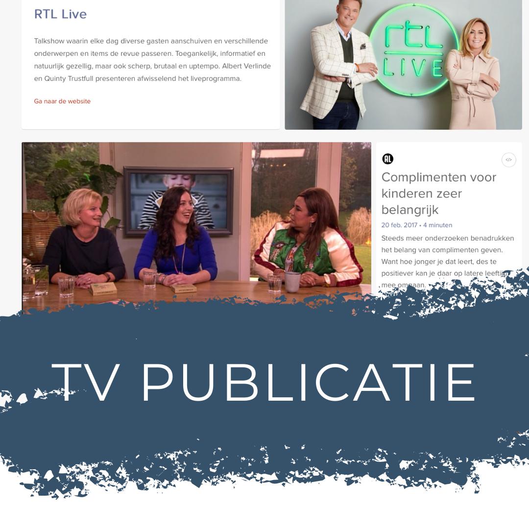 TV publicatie bij RTL Live, foto's van het Complimentenspel door Sandra Stokmans Fotografie