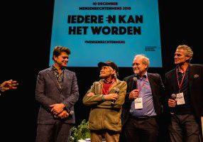 Genomineerden van het MensenrechtenMens 2018, uitgereikt door College voor de Rechten van de Mens in Utrecht, met evenement fotograaf Sandra Stokmans